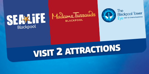 2 Attractions Blackpool Ticket