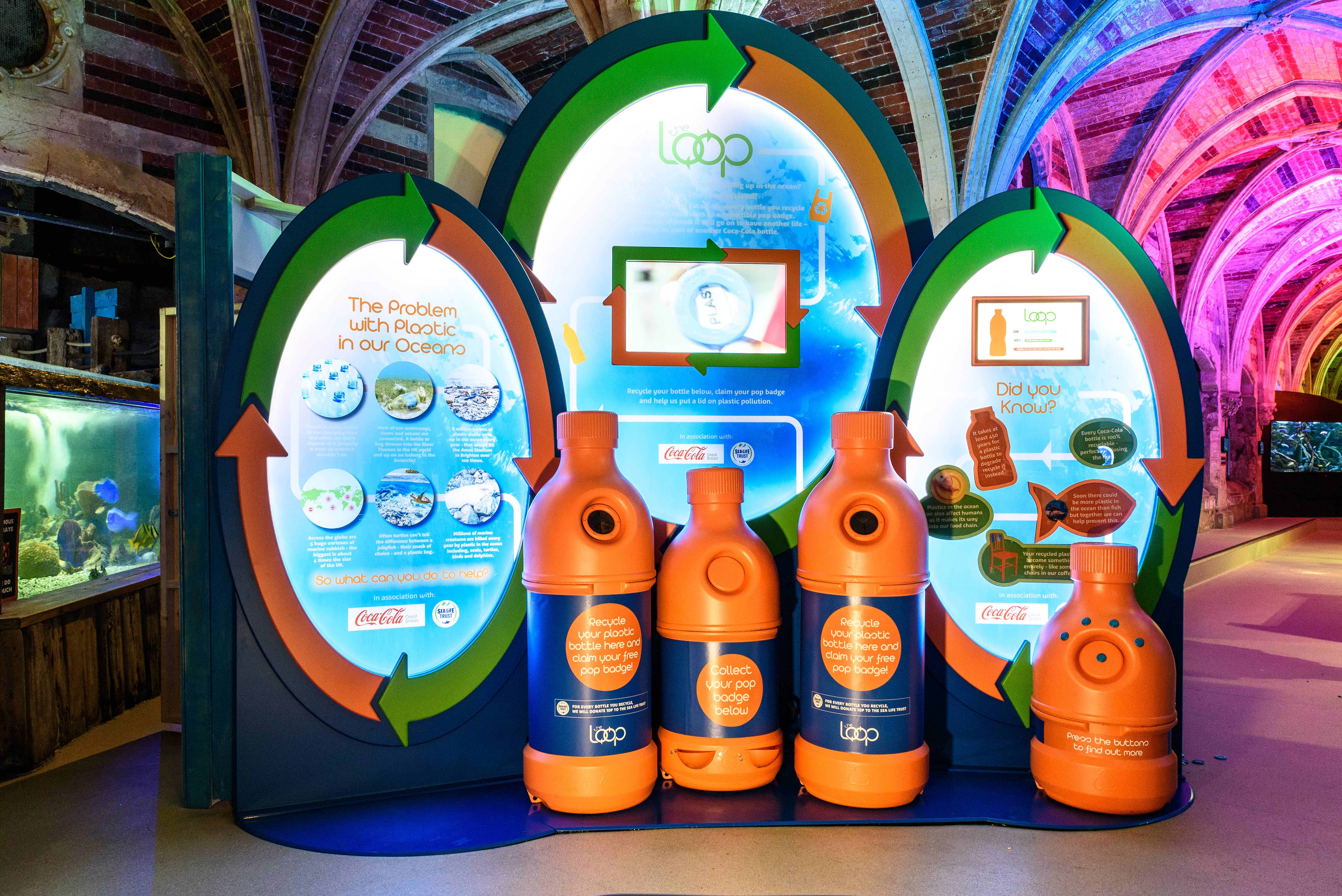 The Loop Recycling Zone at SEA LIFE Brighton