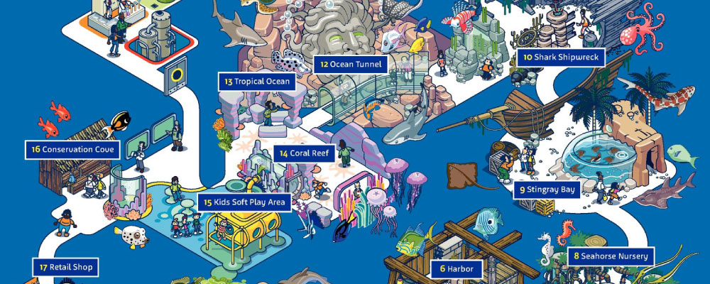 Aquarium Map | SEA LIFE Charlotte - Concord