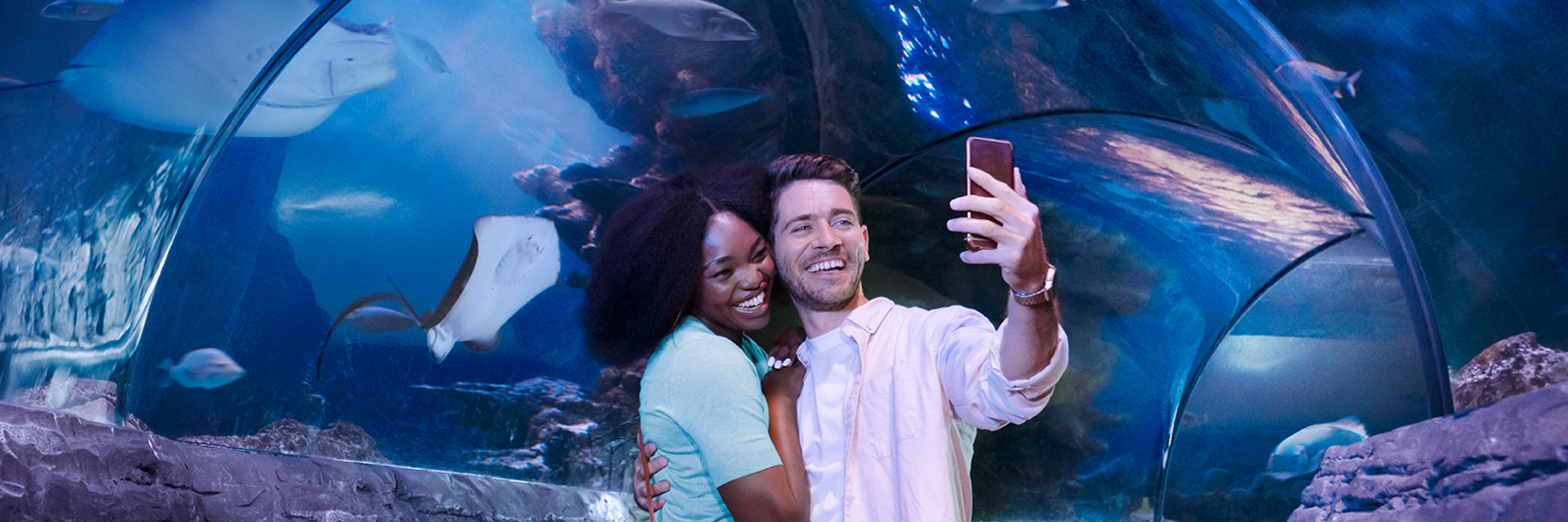 Couple Selfie Tunnel 3000X1000 | SEA LIFE Michigan Aquarium