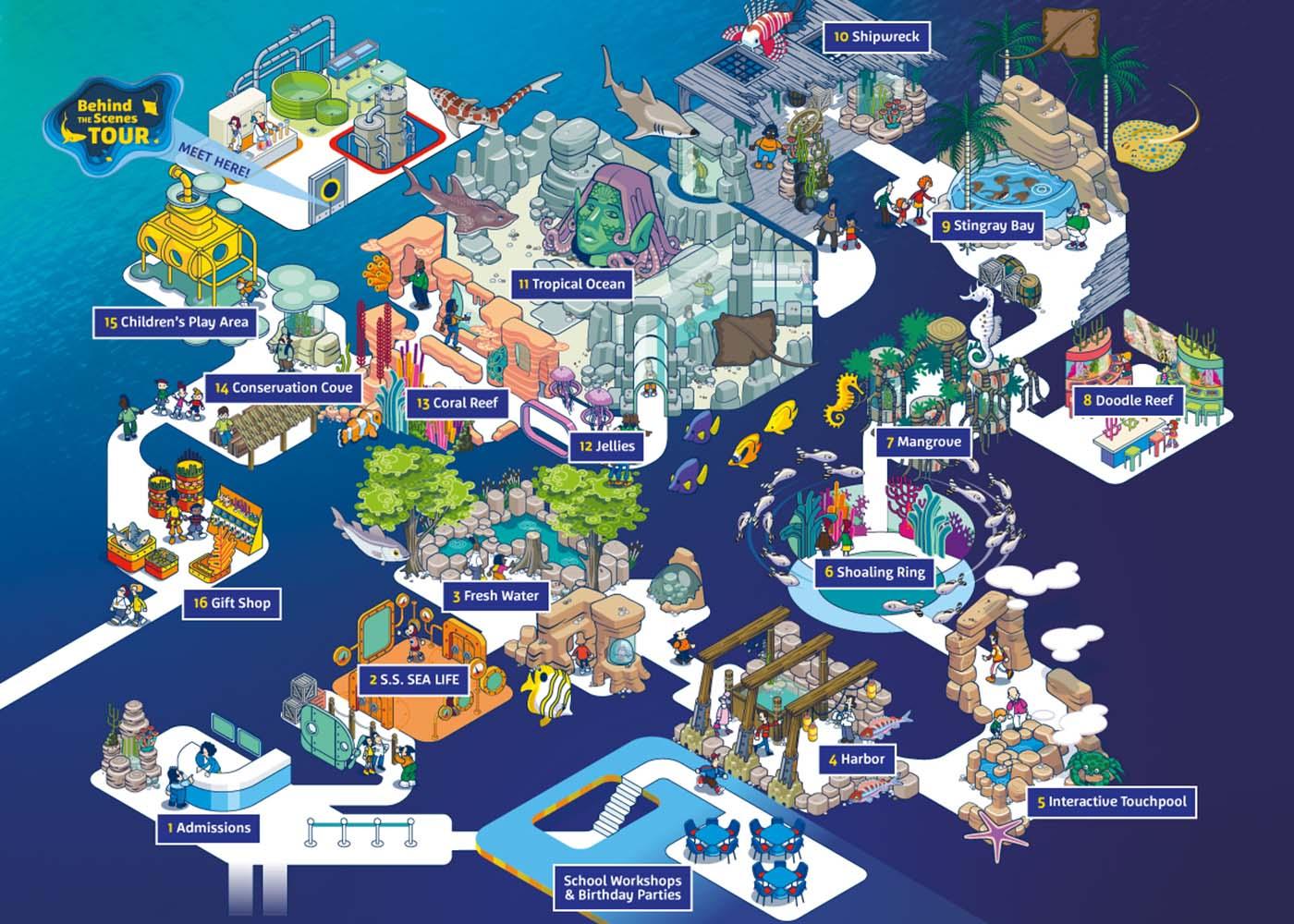 Map | SEA LIFE Michigan Aquarium