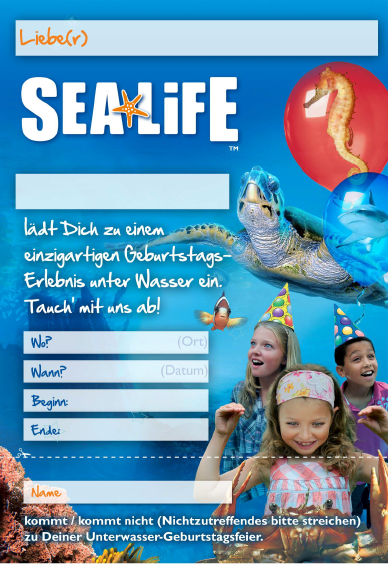 Sea Life Oberhausen Kindergeburtstag