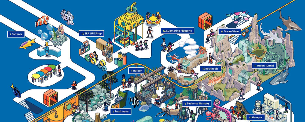 Aquarium Map | SEA LIFE San Antonio Aquarium